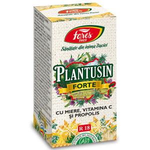 Sirop Plantusin Forte cu miere si propolis R18 100 ml - Fares
