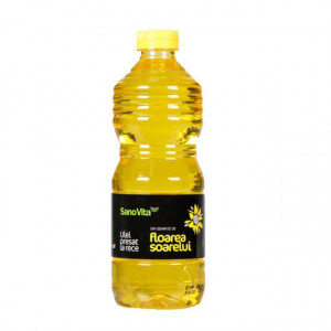 Ulei presat la rece de floarea soarelui - 500 ml