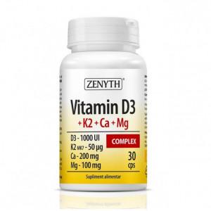 Vitamin D3+K2+CA+MG complex - 30 cps