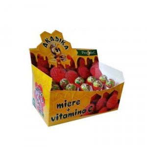 Acadele Miere + Vitamina C Akadika - 15 buc