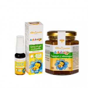 Api Junior - 200 g + Api Junior Spray gat cu propolis - 20 ml Gratis