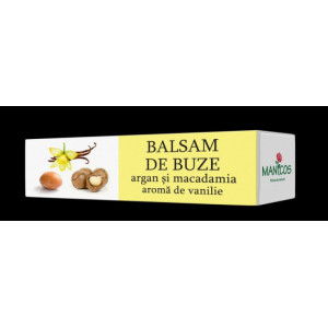 Balsam de buze cu ulei de argan, macadamia si aroma de vanilie - 4.8g