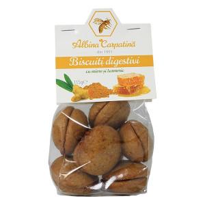 Biscuiti digestivi cu miere si turmeric - 115 g