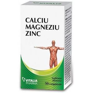 Calciu, Magneziu si Zinc - 50 cpr