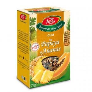 Ceai cu Papaya si Ananas - 75 gr Fares