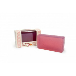 CocoSapun transparent cu argan, migdale dulci si parfum de roze - 100 g