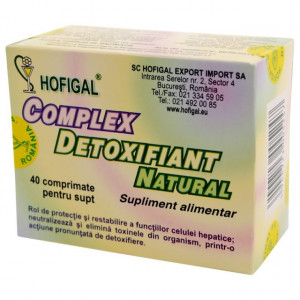 Complex detoxifiant natural - 40 cpr Hofigal