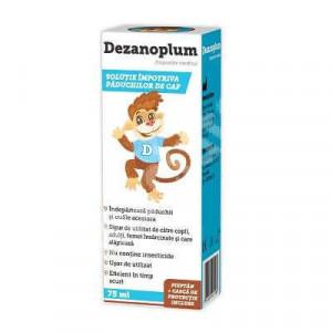 Dezanoplum solutie impotriva paduchilor de cap - 75 ml
