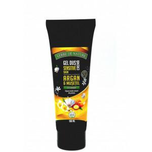 Gel de dus crema Sensitive Skin cu argan, musetel si miere de albine - 100 ml
