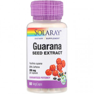 Guarana Seed Extract 200mg - 60 cps
