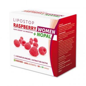 Lipostop Raspberry Women + Nopal - 60 +30 cps