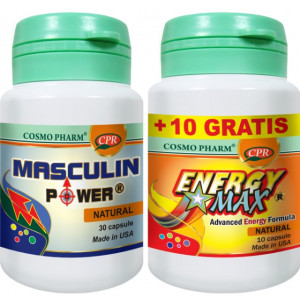 Masculin Power - 30 cps + Energy Max - 10 cps GRATIS