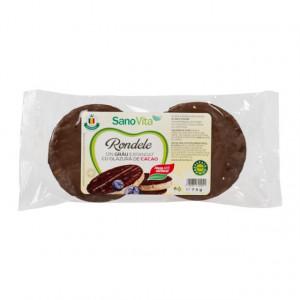 Rondele din grau cu glazura de cacao - 75g