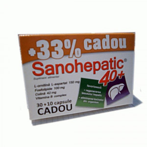 Sanohepatic 40+ - 30 + 10 cps Gratis