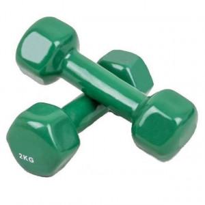 Set gantere epoxy 2 x 2 kg verde Dayu Fitness