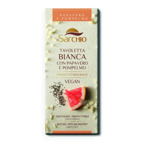 Tableta ciocolata Bio vegana alba cu mac si grapefruit - 80 g
