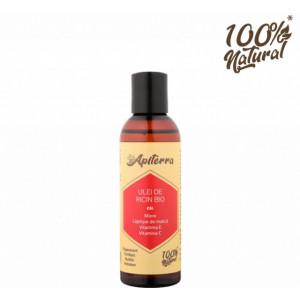 Ulei de ricin cu miere, laptisor de matca, vitamina C si E Apiterra - 100 ml