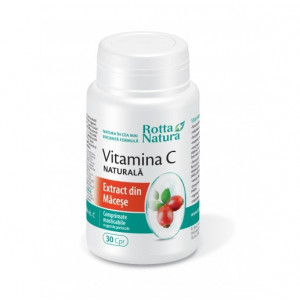 Vitamina C din extract Macese - 30 cps