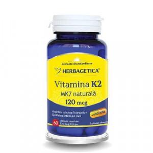 Vitamina K2 MK7 naturala 120 mcg - 60 cps