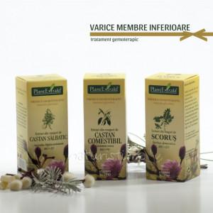 Tratament naturist - Varice membre inferioare (pachet)