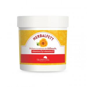 Herbalfett - Balsam cu extract de galbenele, vitamina A si E - 250 ml