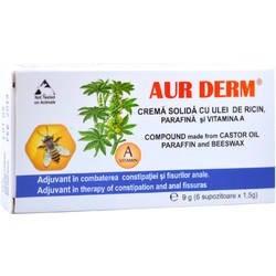 Aur Derm Supozitoare ulei de Ricin 1,5gr*10+2 Gratis