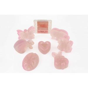 CocoSapun transparent figurine cu argan, migdale dulci si parfum de roze - 50 g