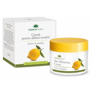 Crema pentru albirea tenului cu extract de lamaie si papadie - 50 ml