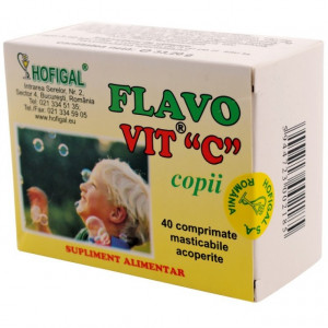 Flavo Vit C copii - 40 cpr Hofigal
