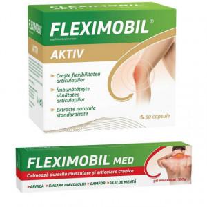 Fleximobil Aktiv 60 cps + Gel emulsionat 100 gr gratis