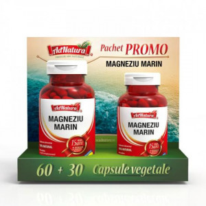 Magneziu marin - 60 cps + 30 cps