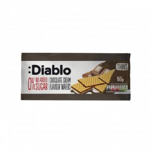 Napolitane Diablo cu crema si aroma de ciocolata, fara adaos de zahar - 160 g