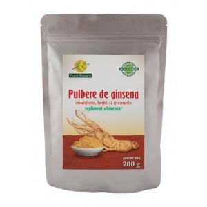 Pulbere din radacina de ginseng asiatic (Pananx ginseng) - 200 g