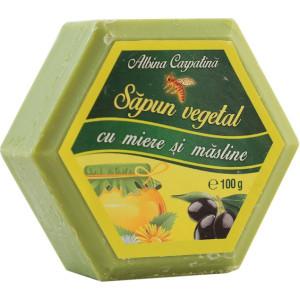 Sapun hexagonal cu miere si ulei de masline - 100g