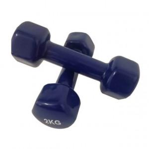 Set gantere epoxy 2 x 2 kg albastru Dayu Fitness