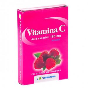 Vitamina C zmeura 180 mg - 20 cpr