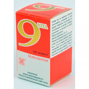 9 VITA - Multivitamine - 100 drajeuri