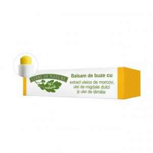 Balsam de buze cu extract uleios de morcovi, ulei de migdale si ulei de lamaie 4.8 g
