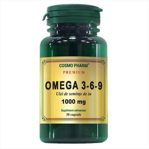 Omega 3-6-9 Ulei de seminte de in - 30 cps Cosmo Pharm