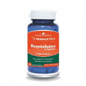 Bromelaina si Papaina - 60 cps