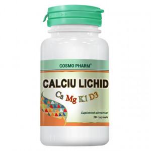 Calciu, Magneziu, Vitamina D Lichid - 30 cps