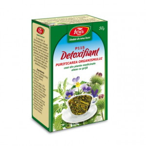 Ceai Detoxifiant purificarea organismului P115 - 50 g Fares