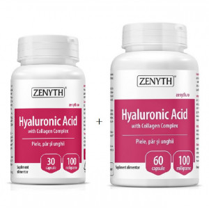 Hyaluronic Acid with Collagen Complex - 60 cps + 30 cps Cadou