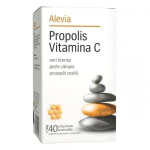 Propolis vitamina C - 40 cps masticabile