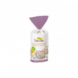 Rondele de orez rosu si negru, BIO ECO, fara gluten, 100g - Sarchio