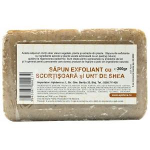 Sapun exfoliant cu scortisoara si shea - 200 g Apidava