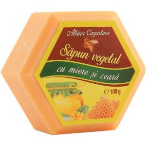 Sapun hexagonal cu miere si ceara - 100g