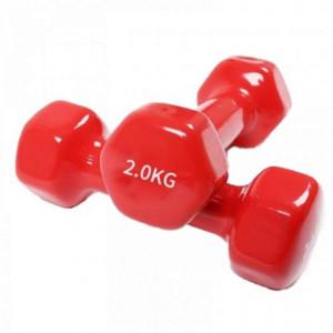 Set gantere epoxy 2 x 2 kg rosu Dayu Fitness