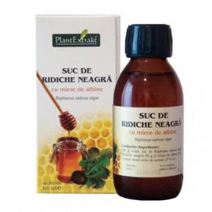 Suc (sirop) de ridiche neagra cu miere de albine - 100ml - pentru tuse