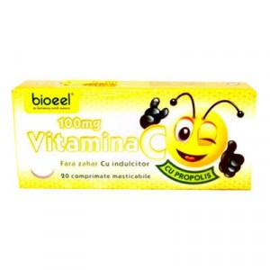 Vitamina C cu aroma de propolis - 20 cpr Bioeel